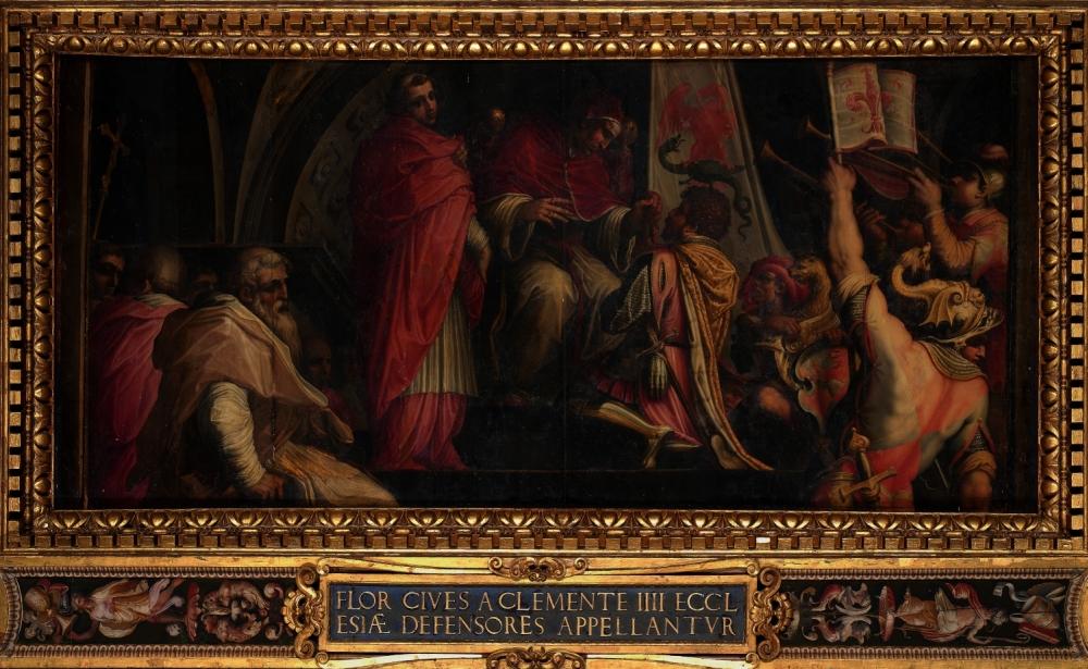 Giorgio Vasari Clemente IV Guelph Part small
