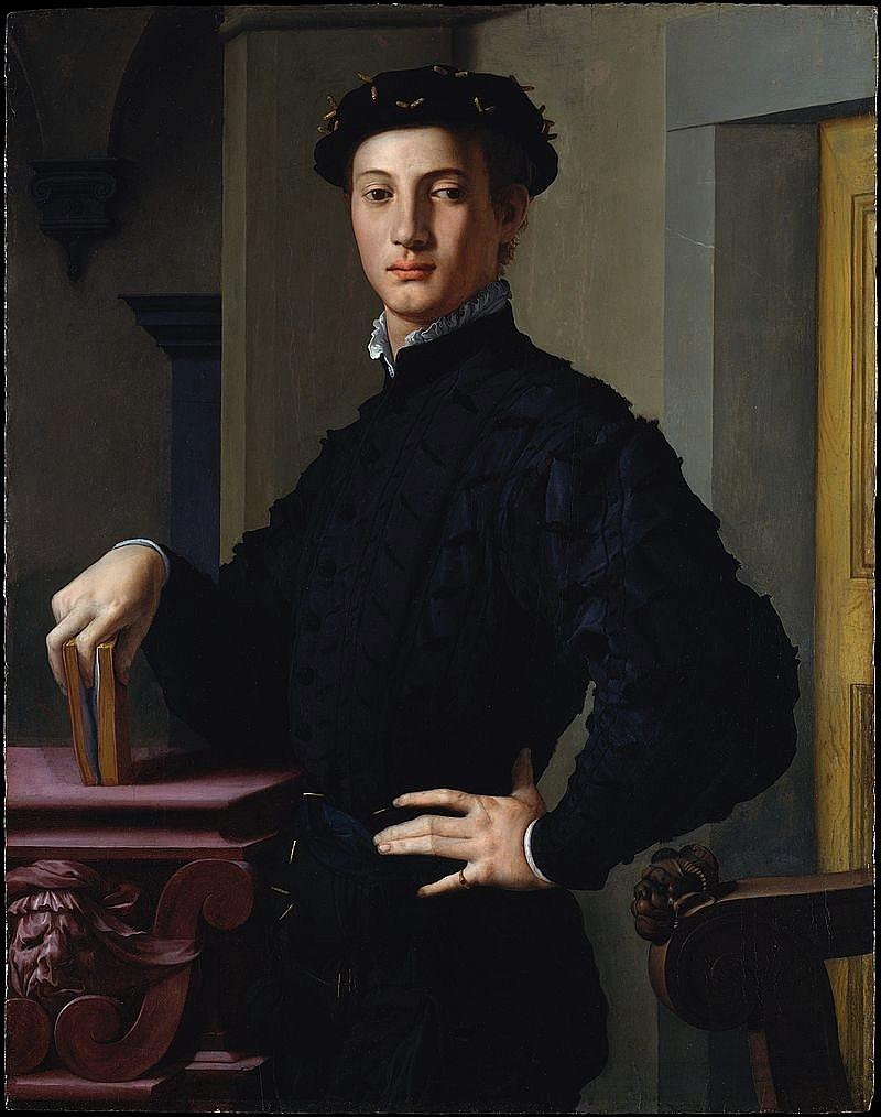 Bronzino giovane con libro 1540