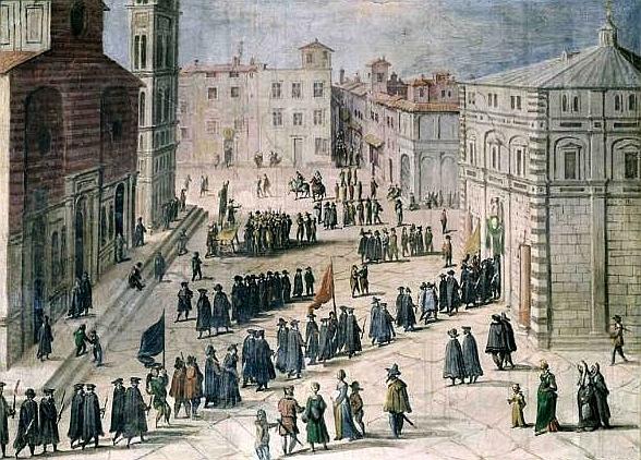 Giovanni Stradano Processione in Piazza del Duomo Sala di Gualdrada in Palazzo Vecchio 1561