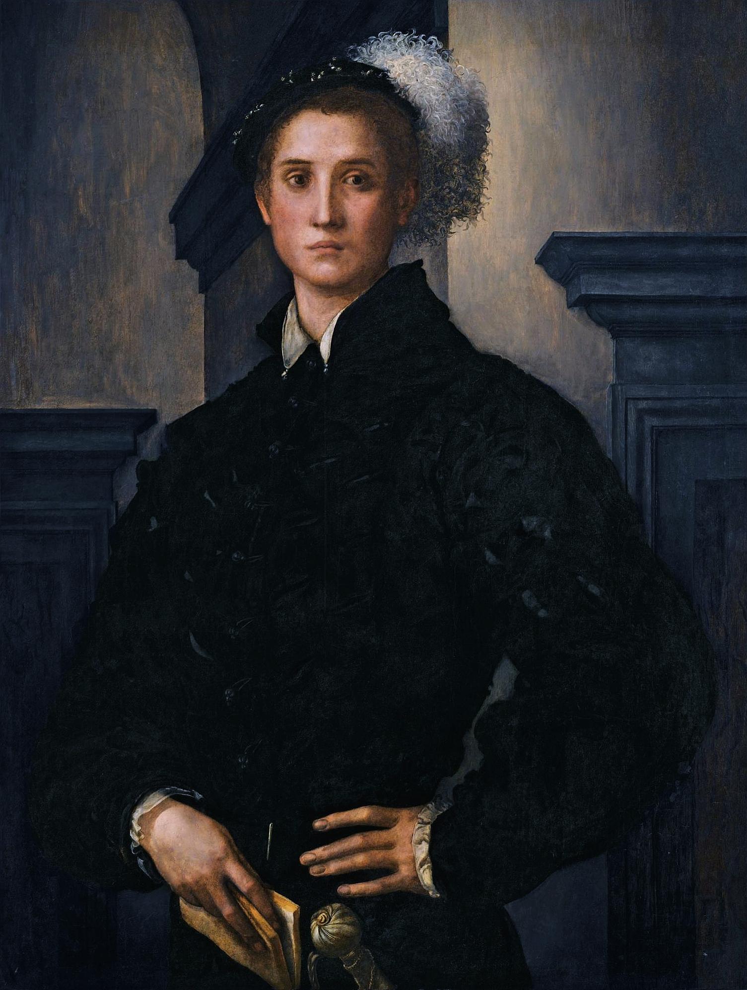 Pontormo Cosimo I vestito in nero a 19 anni 1538