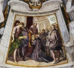 Parte Guelfa Bernardino Poccetti Il duca Cosimo I dei Medici consegna al priore Vincenzo Borghini i Capitoli dellAccademia 1609. Firenze Ospedale degli Innocenti