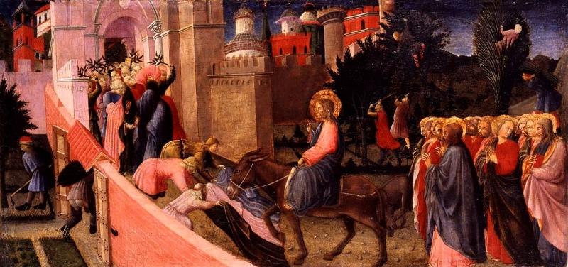 Parte Guelfa Gesù entra a Gerusalemme
