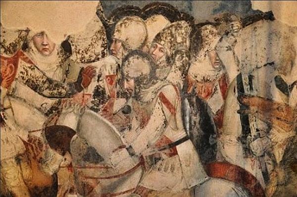 Parte Guelfa Santa Maria Novella cavalieri fiorentini XIII secolo dettaglio