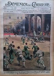 Parte Guelfa ripresa del calcio fiorentino Piazza Signoria 1930 verdi bianchi