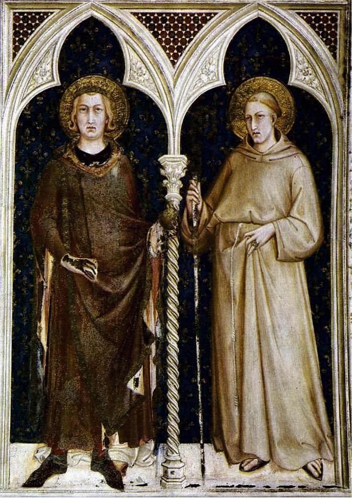 Parte Guelfa Assisi Simone Martini San Luigi di Francia e San Ludovico di Tolosa Cappella di San Martino Basilica Papale di San Francesco