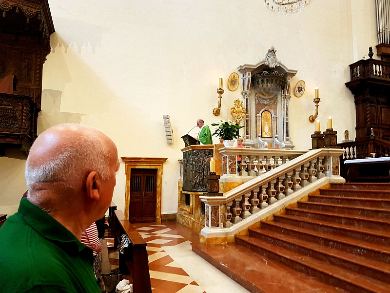 Parte Guelfa Assisi Pellegrinaggio 2017 Basilica Santa Maria degli Angeli Mons. Vasco Giuliani al pulpito