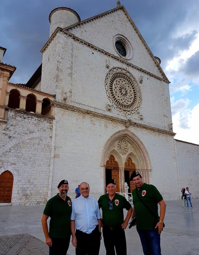 Parte Guelfa Assisi Pellegrinaggio 2017 Basilica superiore Andrea Claudio Galluzzo Mons. Vasco Giuliani Alberto Bellini Dimitri Caciolli