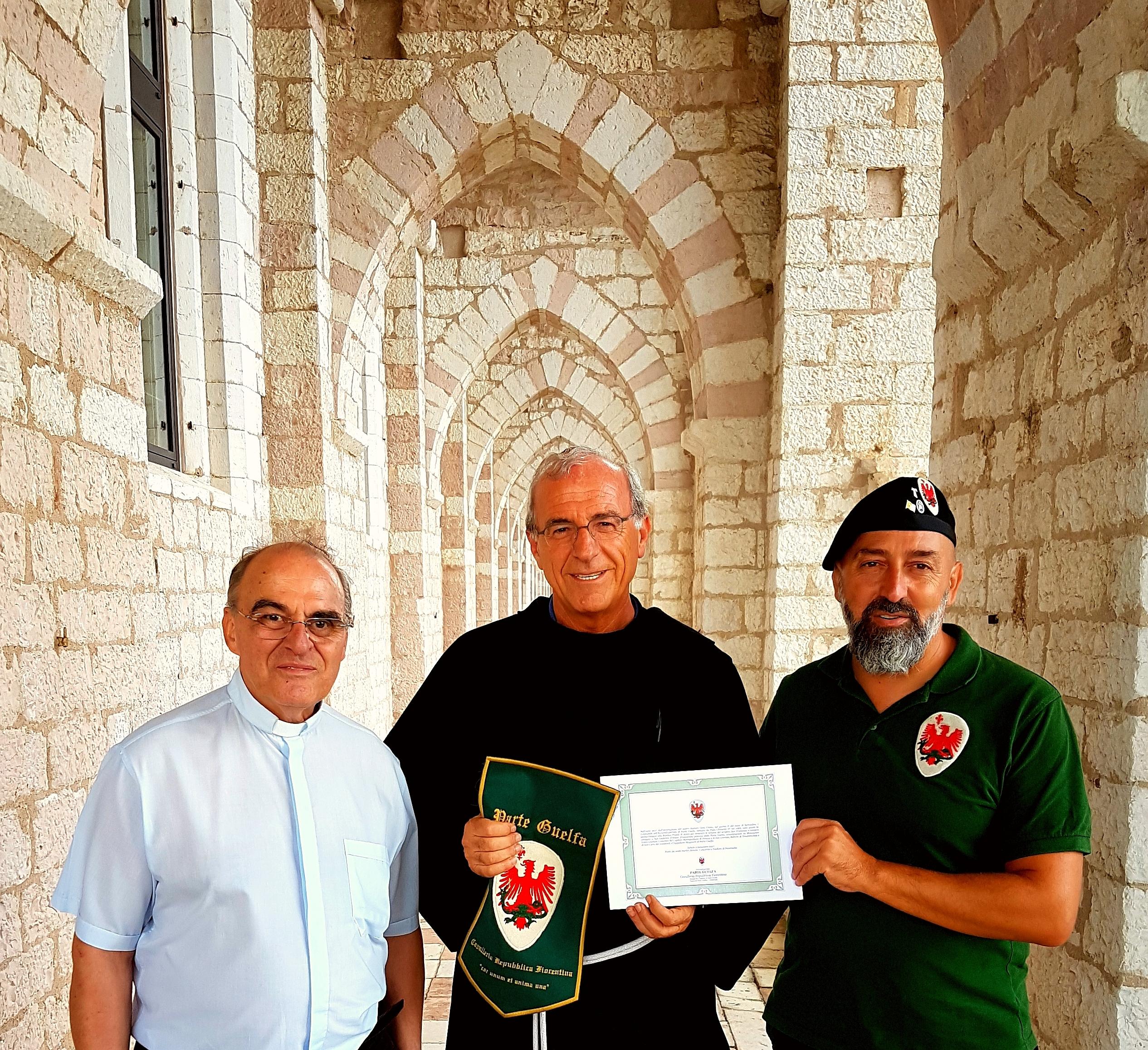 Parte Guelfa Assisi Pellegrinaggio 2017 Sacro Convento Alberto Bellini Mons. Vasco Giuliani Fra Domenico Paoletti Andrea Claudio Galluzzo