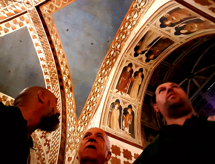 Parte Guelfa Assisi Pellegrinaggio 2017 Basilica Inferiore Cappella di San Martino di Tours affresco Simone Martini San Luigi dei Francesi e San Ludovico dAngiò