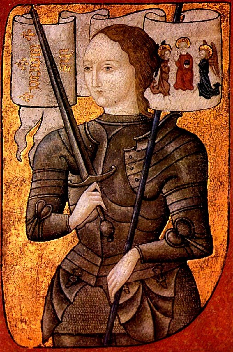 Parte Guelfa Giovanna dArco in armatura dipinto XV secolo