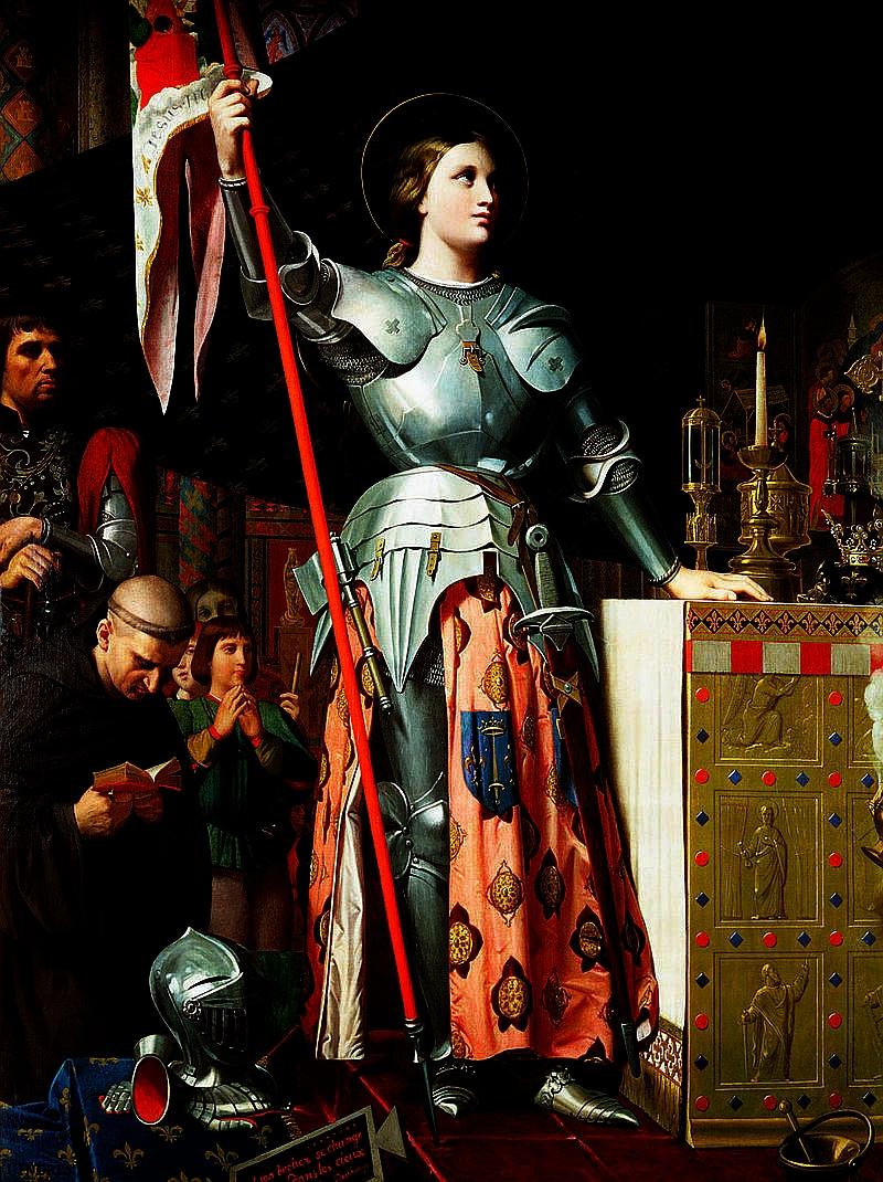 Parte Guelfa Giovanna dArco in armatura incoronazione Carlo VII
