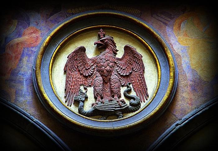 Parte Guelfa stemma primo cortile Arnolfo di Palazzo Vecchio