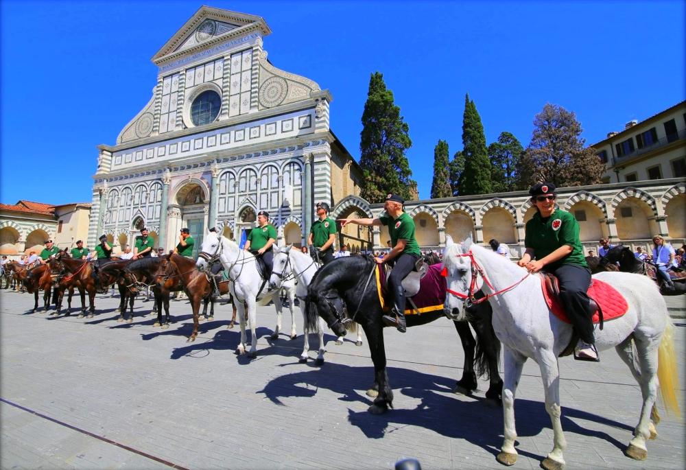 Parte Guelfa Fiorente urban horse trekking in Florence Italy