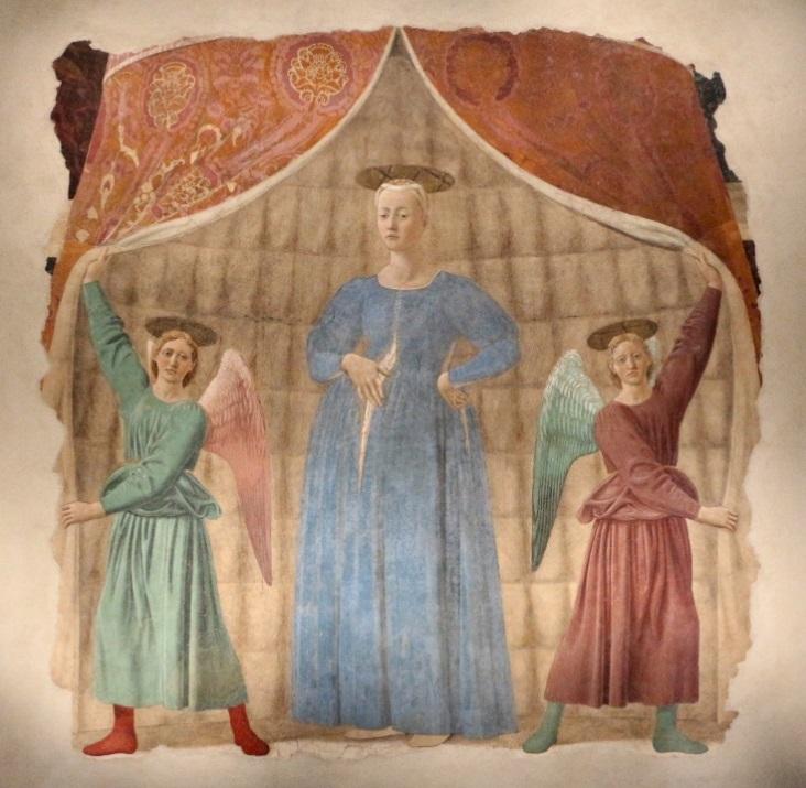 Parte Guelfa Piero della Francesca Madonna del Parto 1460 Museo della Madonna del Parto Monterchi