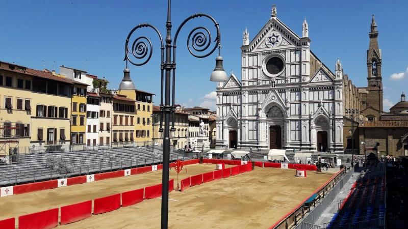 Parte Guelfa Giostra del Giglio 2018 allestimento Piazza Santa Croce