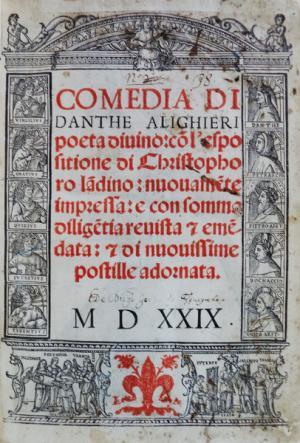 Parte Guelfa Divina Comedia Dante Alighieri Venezia 1529