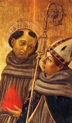 Parte Guelfa Botticini Madonna con Bambino in trono tra san Girolamo san Francesco dAssisi santAntonio da Padova e san Ludovico di Tolosa. small