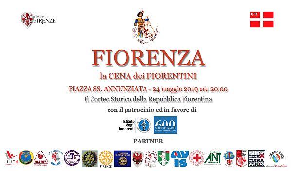 Parte Guelfa cena Fiorenza 2019 piazza Santissima Annunziata