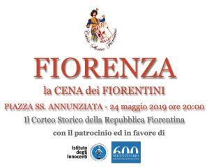Parte Guelfa cena Fiorenza 2019 piazza Santissima Annunziata small